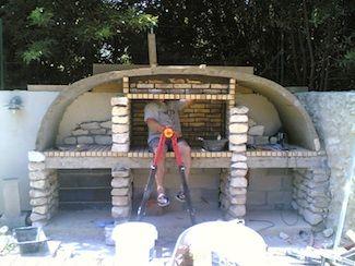 construction foyer barbecue et habillage en pierre jardin pinterest barbecue habillage et. Black Bedroom Furniture Sets. Home Design Ideas