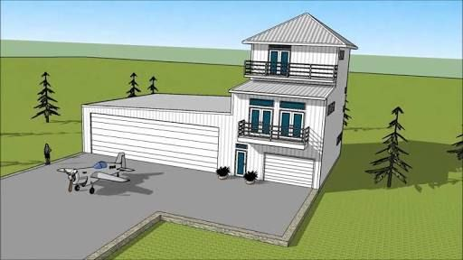 HANGAR HOMES PLANE LIVING | Hangar | Pinterest | Container House Design,  House And Country Houses