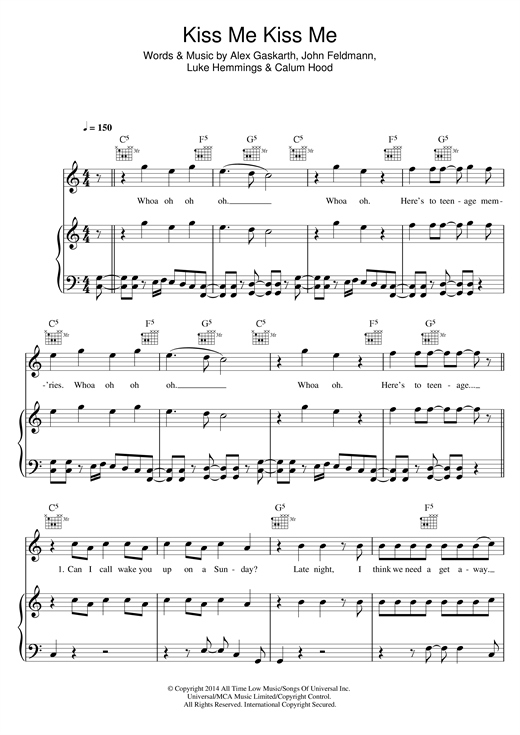 Best Kiss Me Kiss Me 5sos Guitar Chords Image Collection