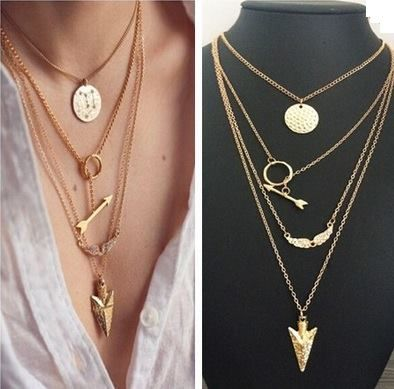 9483844316b0 Collares Choker Dije Triangulo Moda Dama Mayoreo Vintage - $ 25.00 ...