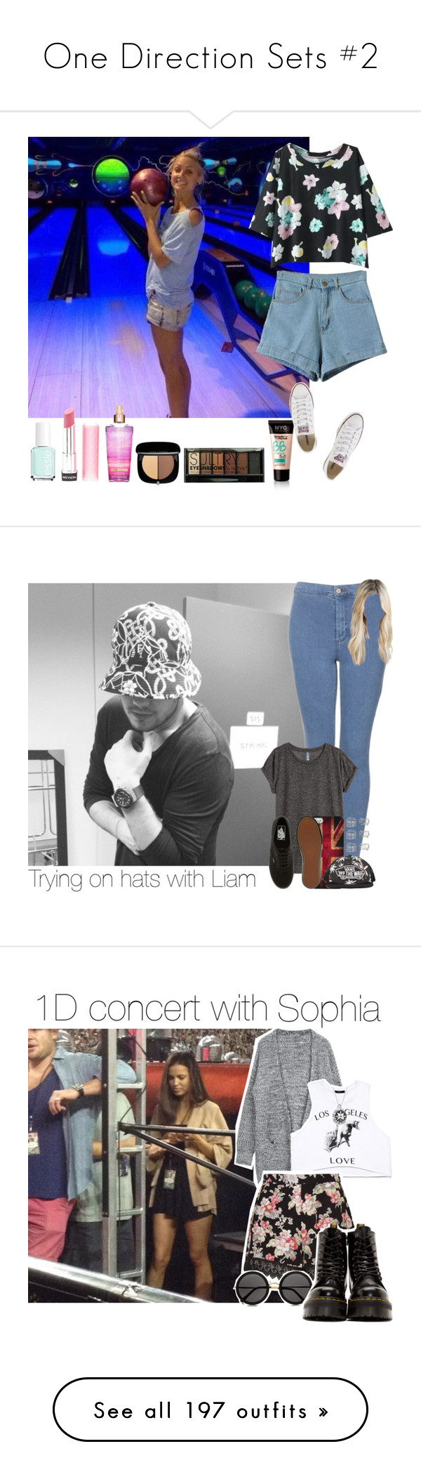 """""""One Direction Sets #2"""" by gingy333 ❤ liked on Polyvore featuring Essie, Revlon, Marc Jacobs, Boohoo, Converse, Topshop, Dorothy Perkins, H&M, Retrò and Vans"""