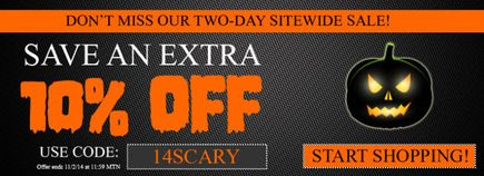 Nitro-Pak Preparedness Center is having an awesome Halloween Sale going on now!