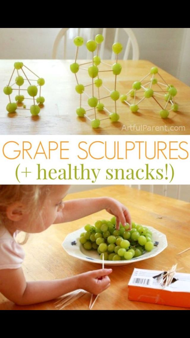 Kinex with grapes | Things to do w kids | Healthy snacks for kids