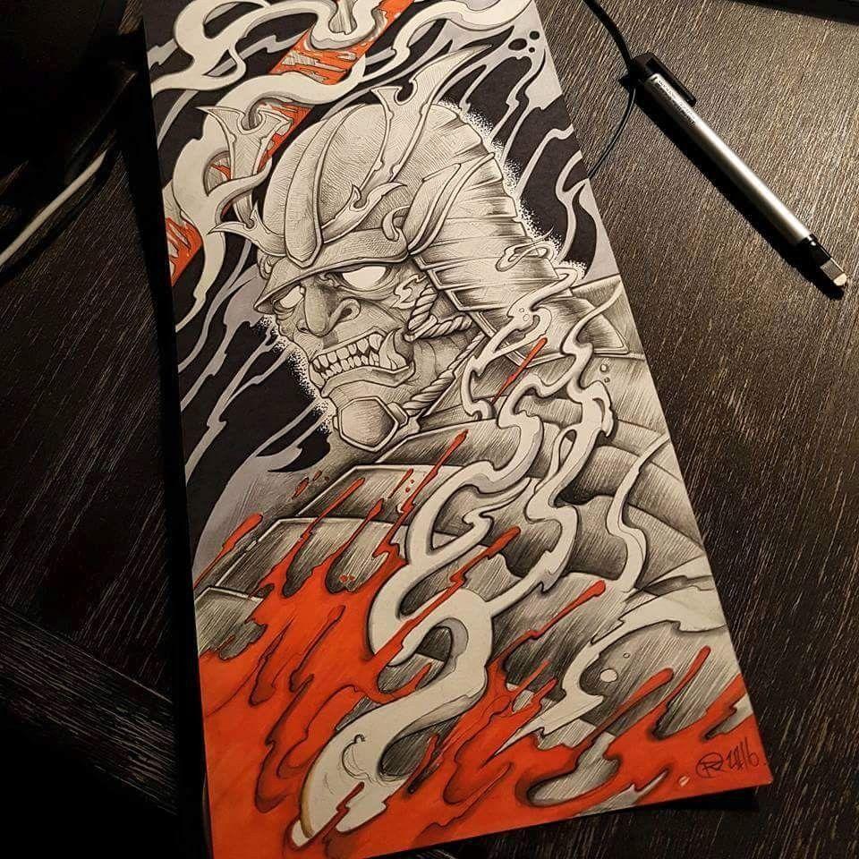 Samurai warrior done by @rustemhorzum at @tattoostudio115 Bergen, Norway