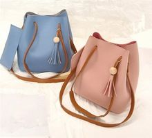 d0958f2dce Korean fashion latest tassel ladies bucket crossbody bags handbag at low  price with a free coin purse bag