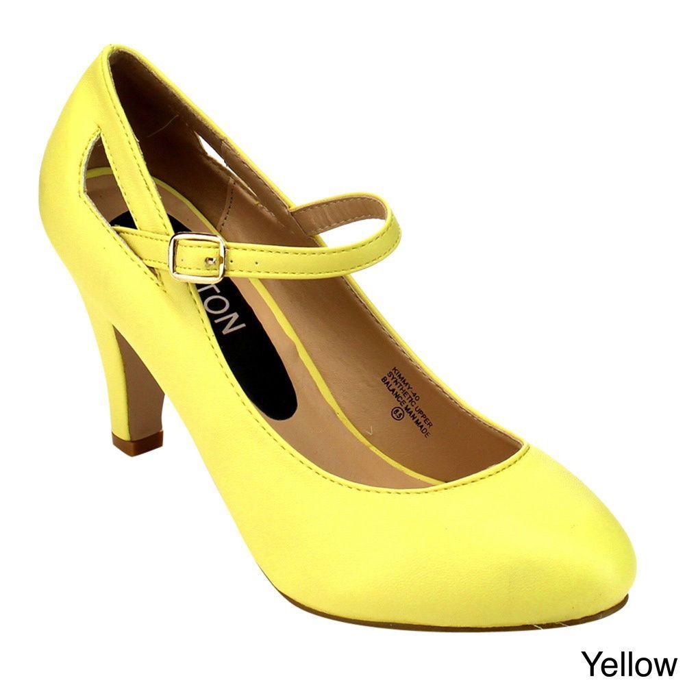 Beston Cc02 Women's Mid Heel Mary Janes