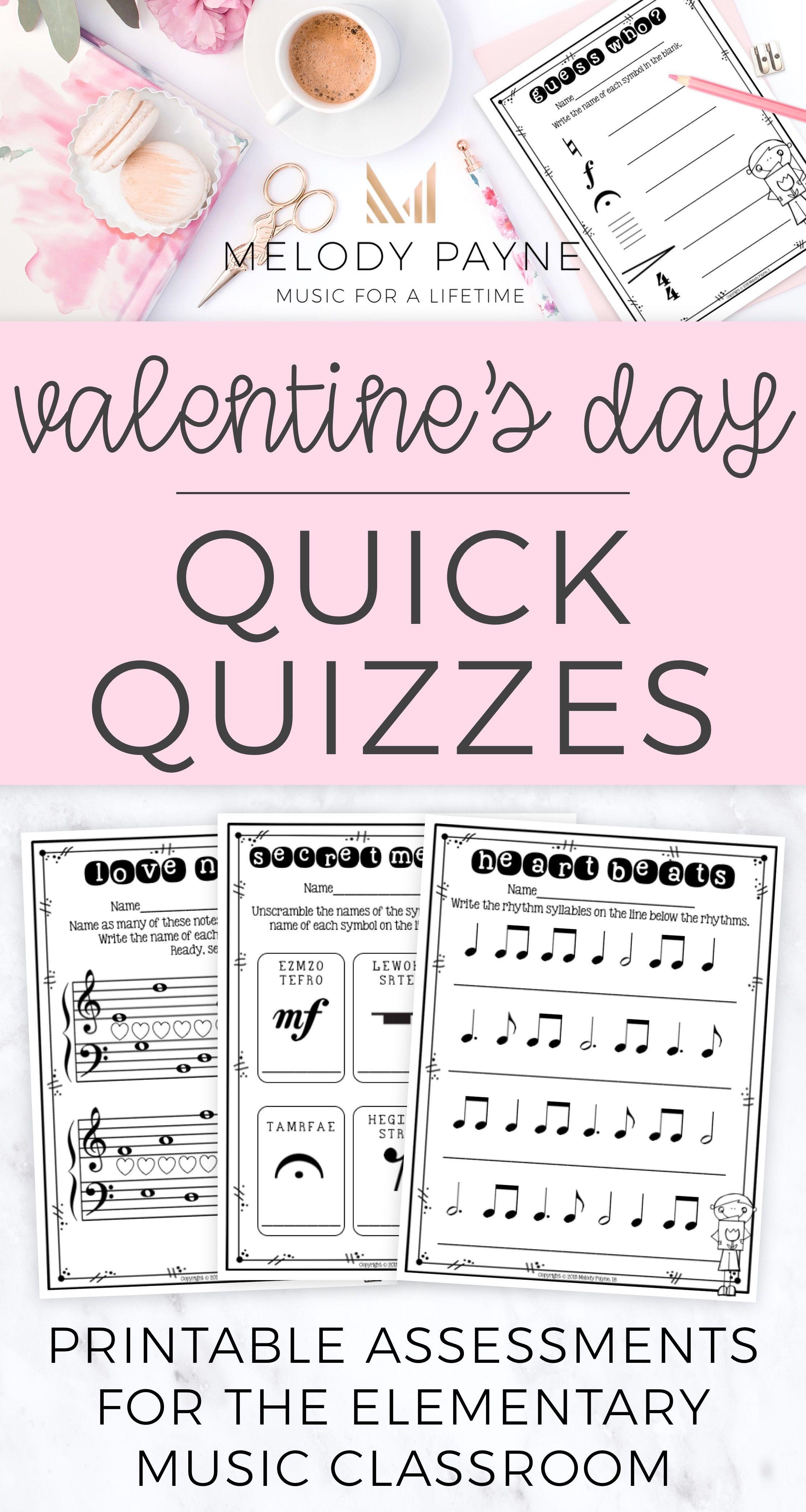Valentine S Day Music Worksheets Melody Payne