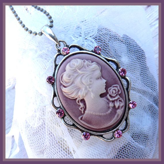 Vintage cameo necklace inspired by downton abbey cameo vintage cameo necklace inspired by downton abbey aloadofball Images