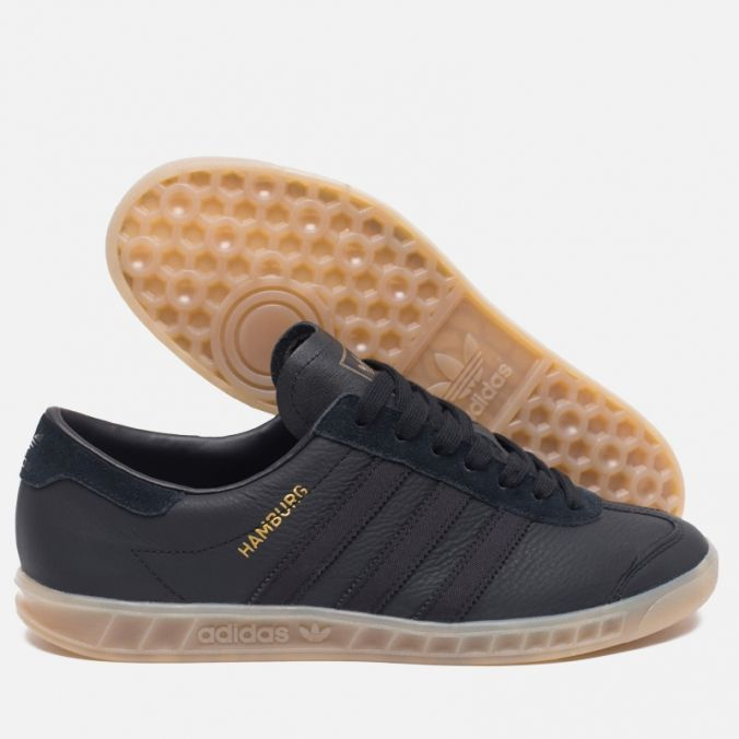 official photos e45ea 0168a Кроссовки adidas Originals Hamburg Core BlackGum. Article S74835.  Release 2016.