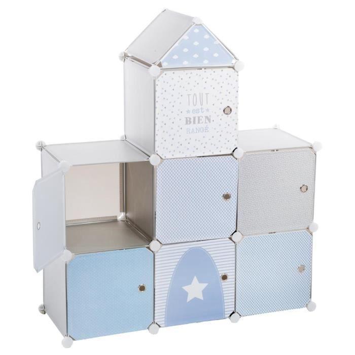 Gray castle storage unit