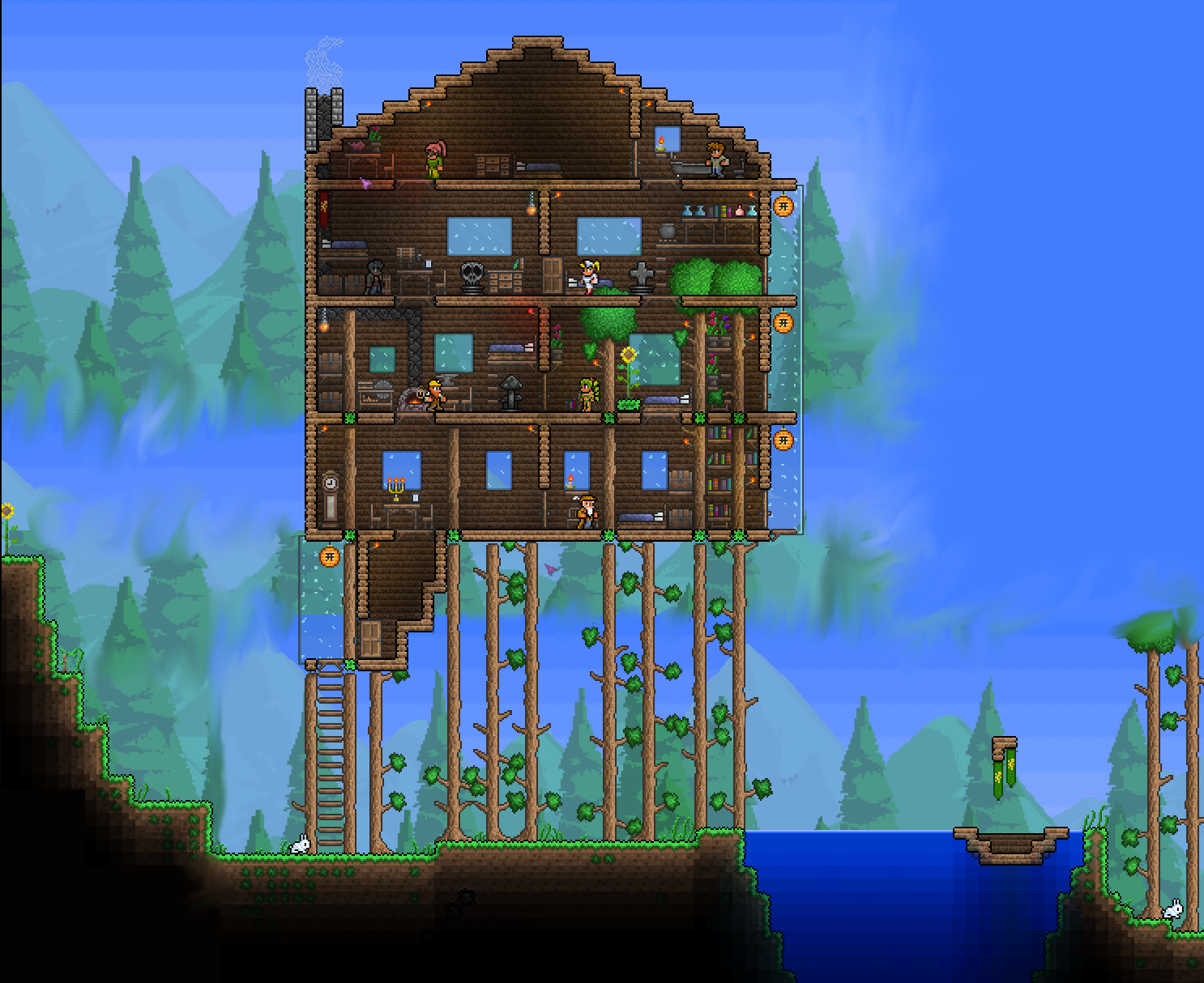 How did they get their trees of equitable height terraria7th birthdaymodern housesminecrafthouse