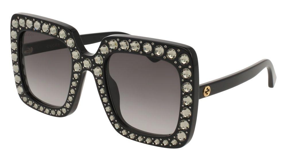 Gucci Gg0148s 001 Black Square Sunglasses Swarovski Sunglasses Sunglasses Sunglasses Women