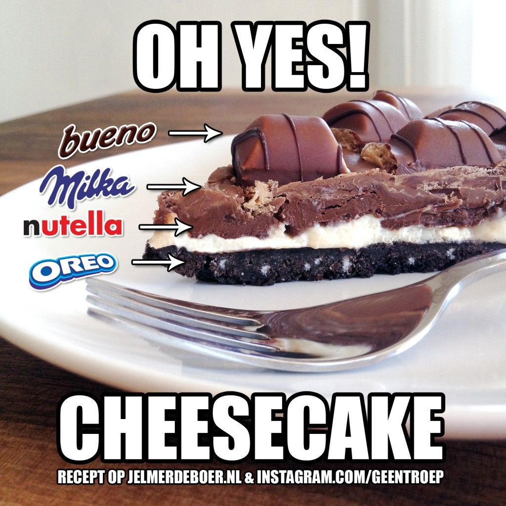 Milka Oreo Kinder Bueno Nutella Cheesecake Can we just stop for a