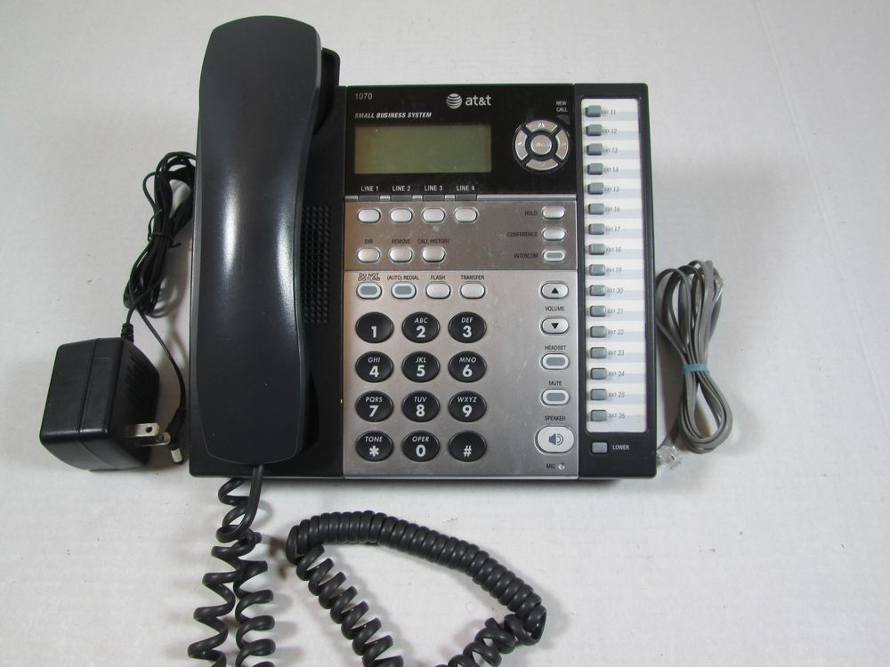 AT&T 1040 4Line Small Business System, Compatible with