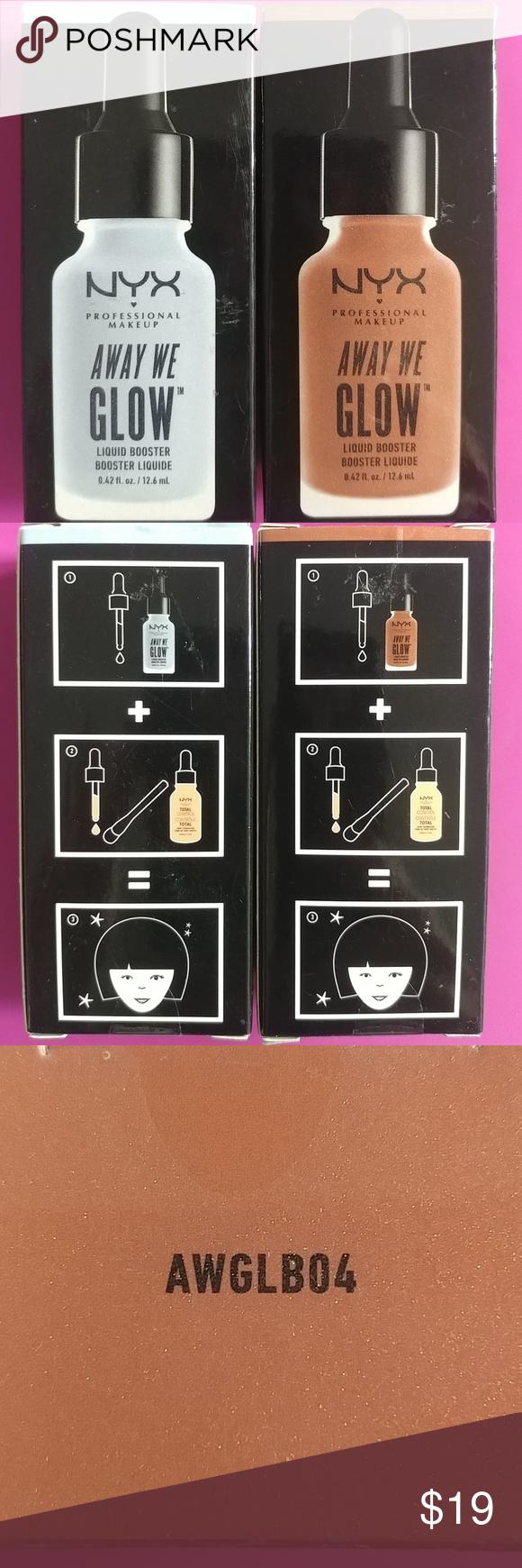 Nib Nyx Away We Glow Liquid Highlighter Luminizer Liquid Highlighter Nyx Away We Glow Perfume Bottles