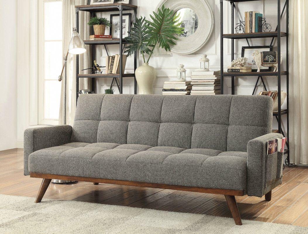 """Bowman 79"""" Square Arm Sleeper Futon sofa, Modern futon"""