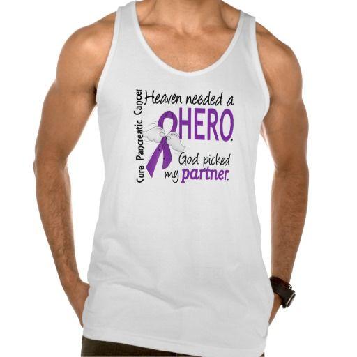 Heaven Needed Hero Partner Pancreatic Cancer Tanktops Tank Tops