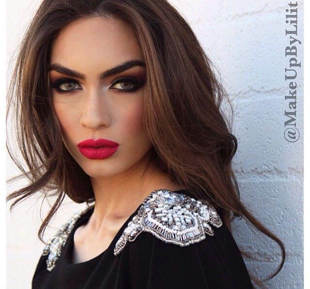 Love the makeup! Gorgeous Armenian model Inga.