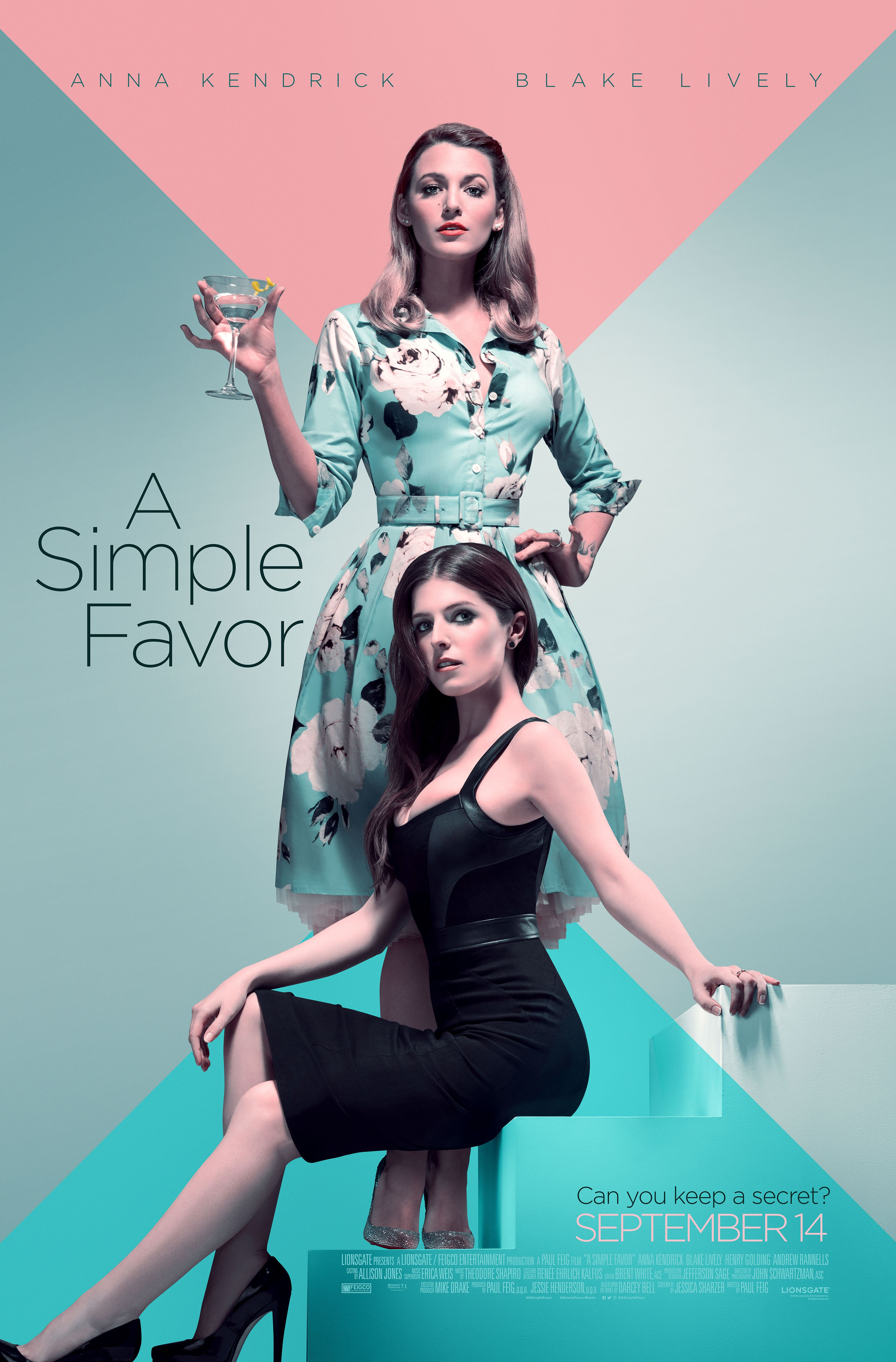 A SIMPLE FAVOR starring Blake Lively & Anna Kendrick | In theaters ...