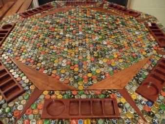 jc bottlecap table Pokercard table how TOTALLY cool is this