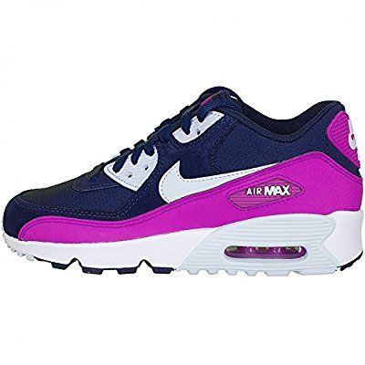 best loved 316d8 f1865 Amazon.com  NIKE Air Max 90 Mesh GS - 833340105 - Color White - Size  5.5   Shoes