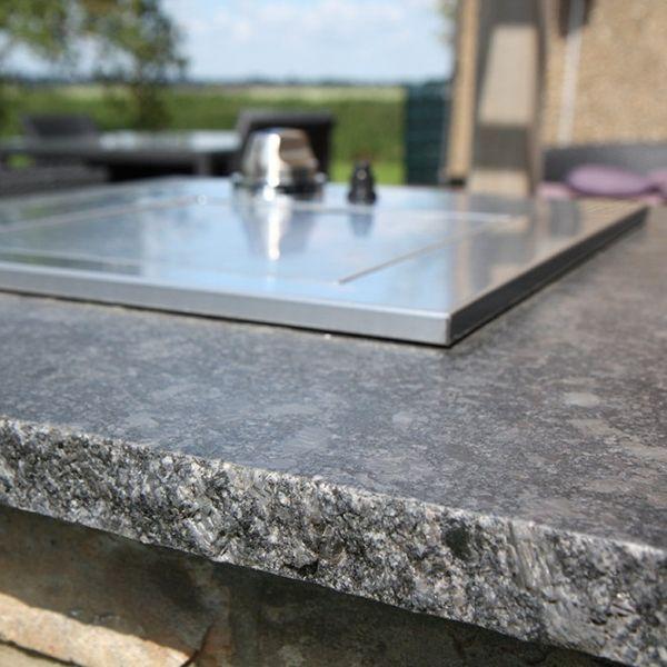 Steel #Grey #Granit - Ein grobkörniges, dunkelgrauer Gabbro, der - arbeitsplatten granit küche