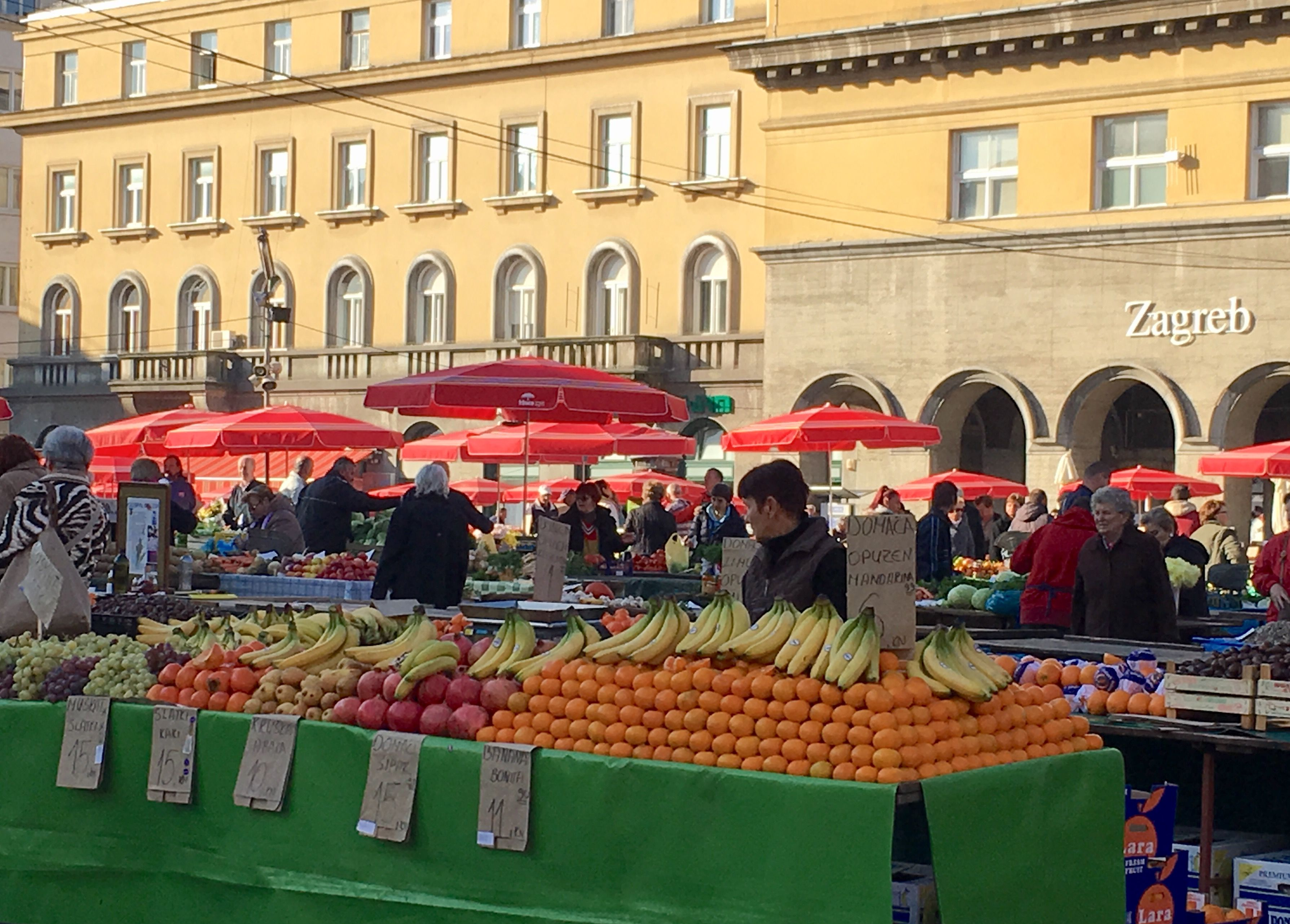 Dolac Market In The Gornji Grad District Of Zagreb Croatia Dolac Has The Traditional Open Market With Stalls And A Sheltered Mar Croatia Travel Croatia Dolac