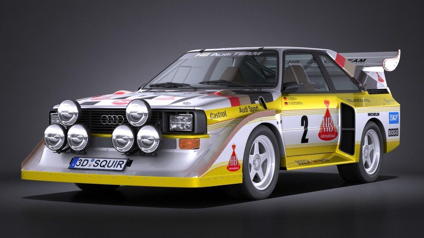 Audi Sport Quattro S1 E2 1985 VRAY 3D Model AD ,Quattro