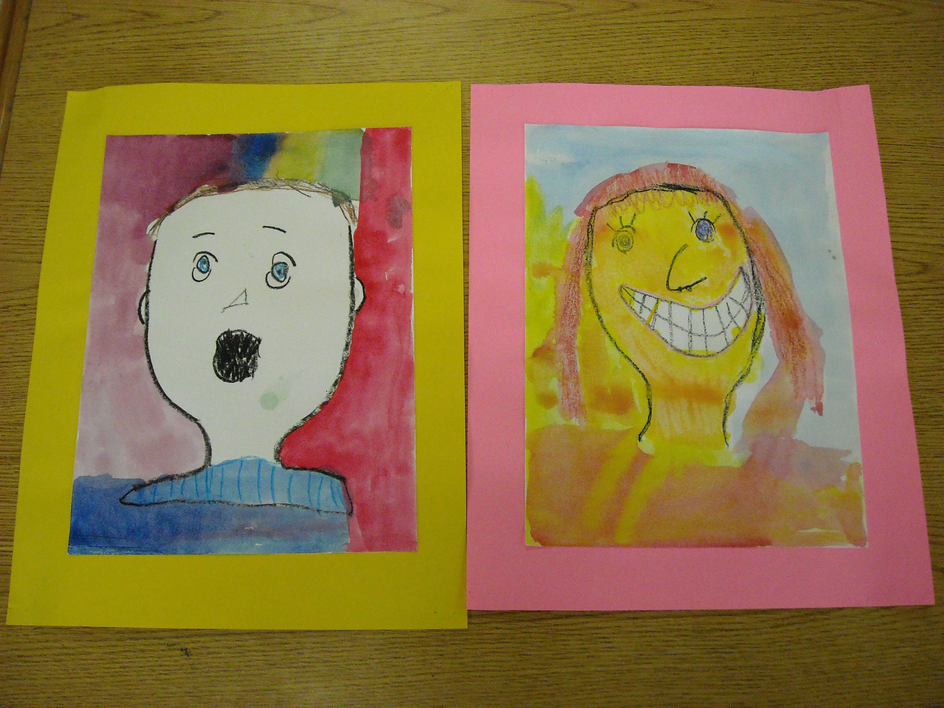 Self-Portraits done by Kindergarten spring 2014 | My Art