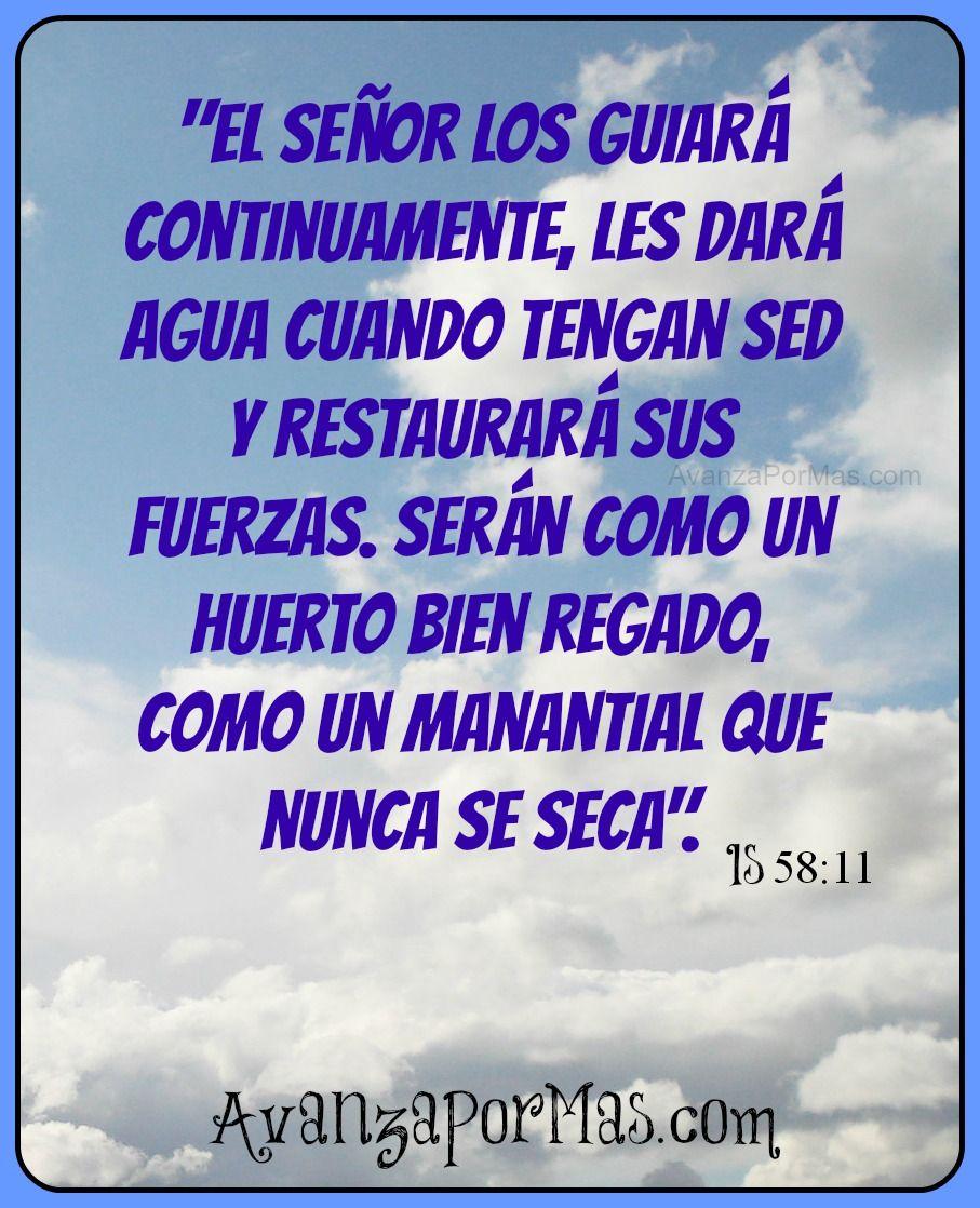 """Versiculos De La Biblia De Animo: (POSTAL) """"El Señor Los Guiará.."""" -> Imágenes Cristianas"""