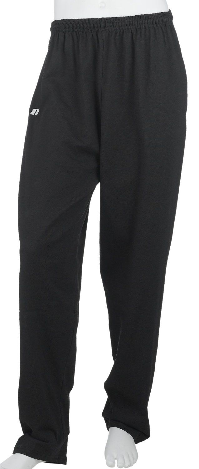 c9c110f85f40 Russell Athletic Mens Cotton Performance Open Bottom Pant