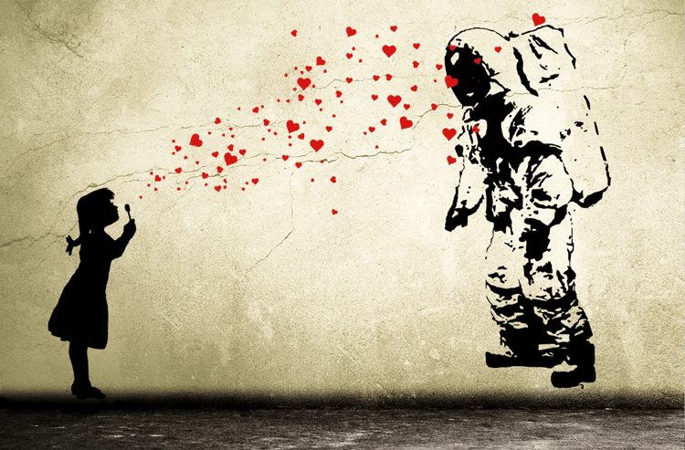 astronauts heart bubble love