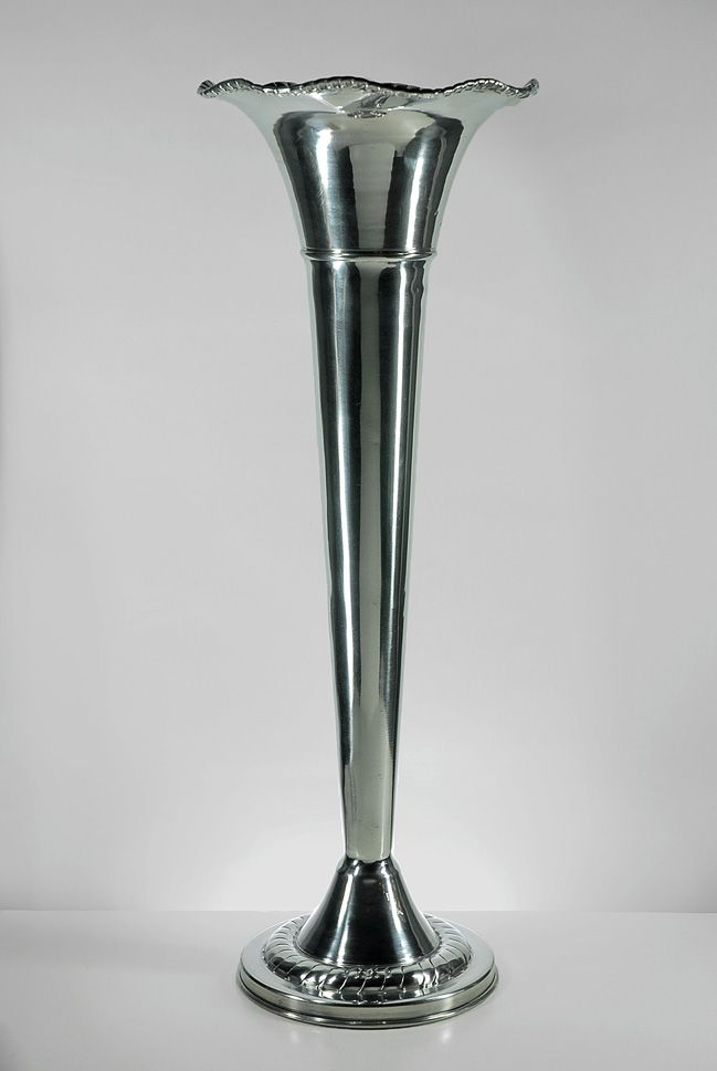 Silver Vases Amazing Silver Fluted Vase  Flutes Bridesmaid Bouquets And Trumpets Review