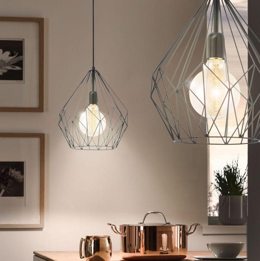 Details zu Vintage Pendel Leuchte Hänge Lampe schwarz Retro Küchen ...