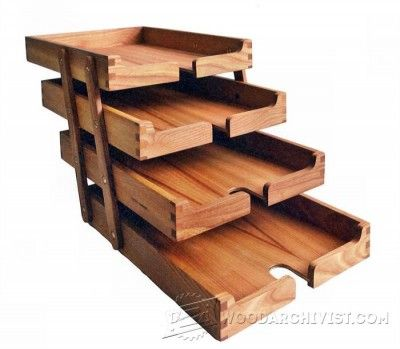 Tambour Desk Organizer Plans Woodworking Plans And Projects Woodarchivist Com Desk Tray Small Woodworking Projects Wooden Desk