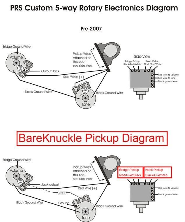 bareknuckle prs 5 way wiring please help harmony. Black Bedroom Furniture Sets. Home Design Ideas