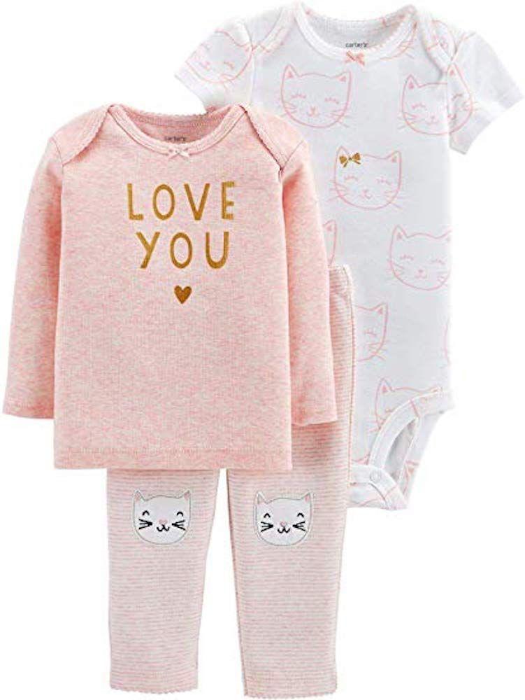 Carters Baby Girls Heathered Kitty Dress