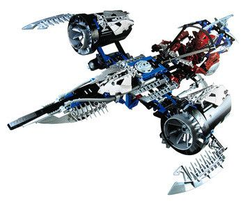 Lego Bionicle Jetrax T6 (8942) Pure power! Makuta Antroz has hijacked the Jetrax T6 and now flies it against the Toa Nuva! Open the cockpit to put him inside, then use the three powerful blasters mounted on the front to launch an a http://www.comparestoreprices.co.uk/childs-toys/lego-bionicle-jetrax-t6-8942-.asp