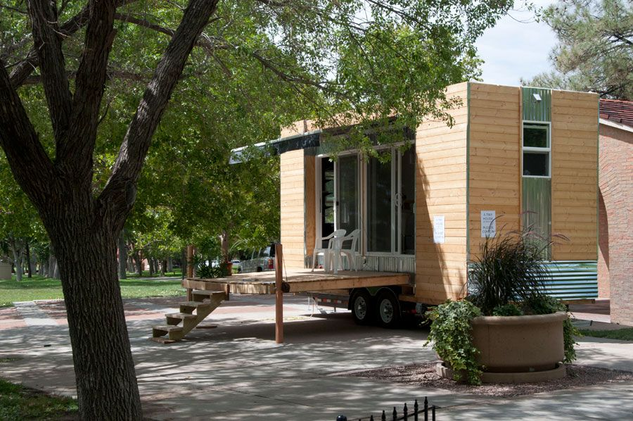 Modern Styled Tiny House From Swoon Love The Fold Down Deck