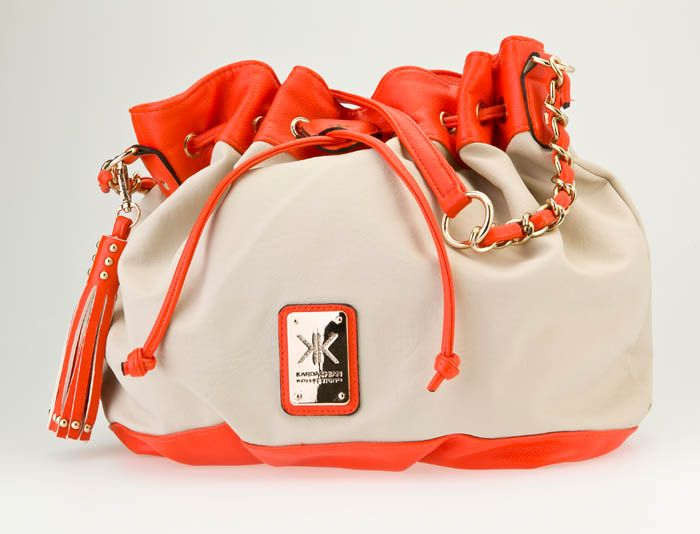 Strandbags Kardashian Kollection Beige Orange Handbag 89 99