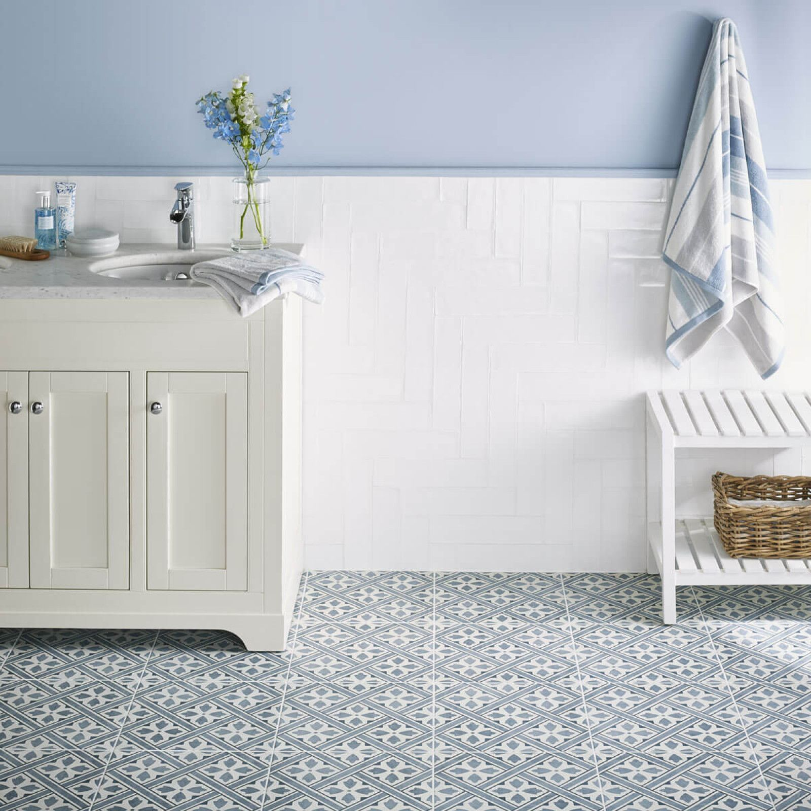 Laura Ashley Mr Jones Midnight British Ceramic Tile Laura Ashley Bathroom Tiles Tile Floor Laura Ashley Bathroom
