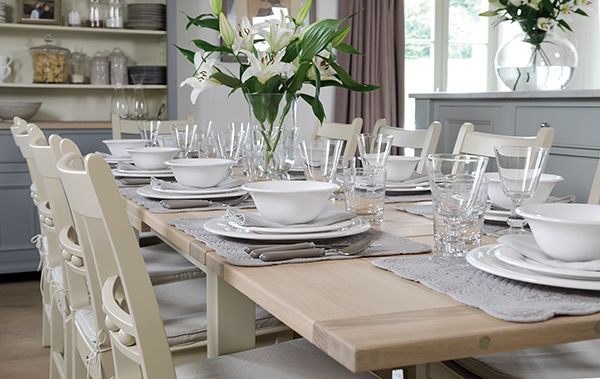 This Beautiful Extending Dining Table Is The Epitome Of Style Traditional Craft And Versatility Seating Up To