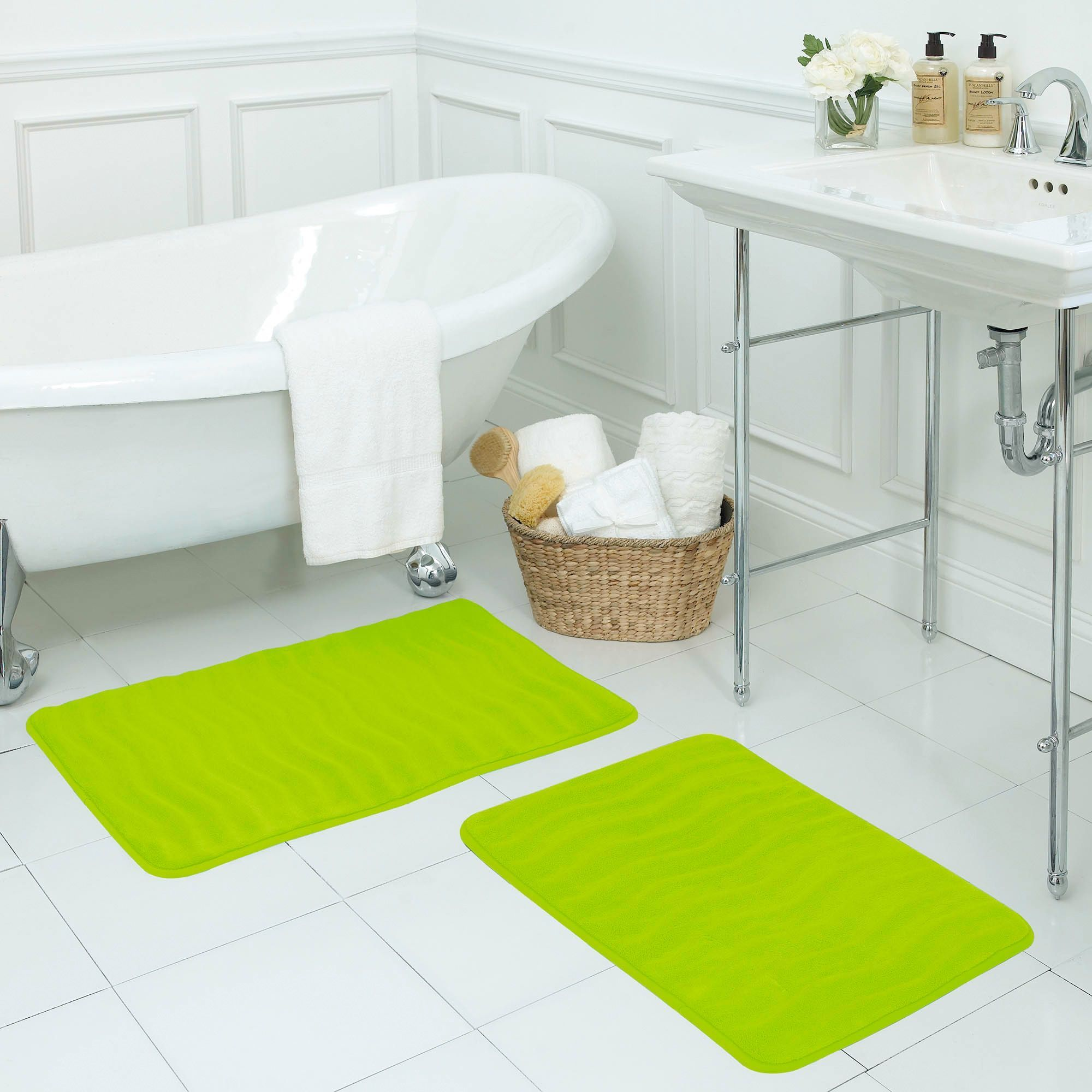 Bathroom Products 3pcs Anti Slip Bathroom Mat Set Non-slip Fish Scale Bath Mat Bathroom Kitchen Vintage Wood Pattern Print Carpet Doormats Decor Fine Craftsmanship