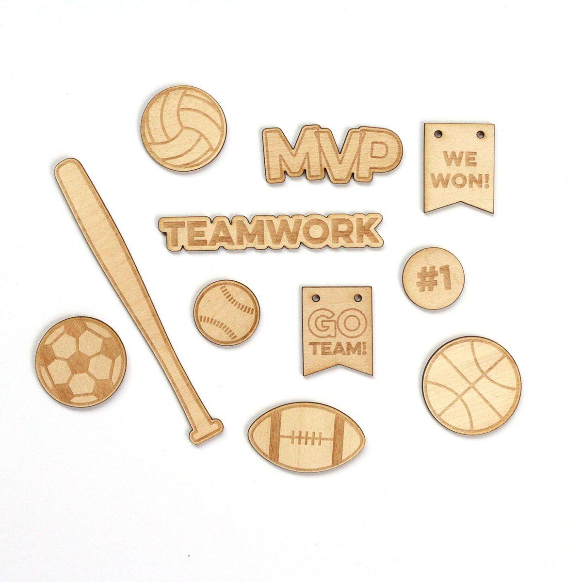 Go Team Wood Veneer Great For Scrapbook Layouts Project
