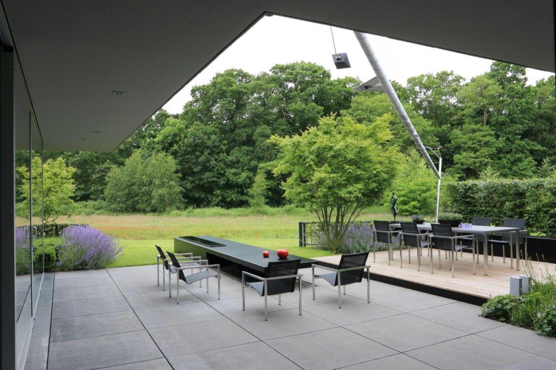 Puur groenprojecten moderne tuin met patio hoog □ exclusieve