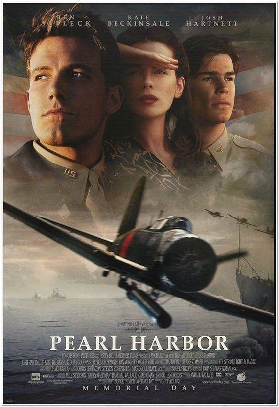 PEARL HARBOR - 2001 - Original 27 x 40 Movie Poster - FACES Style - Ben Affleck, Josh Hartnett, Kate Beckinsale, Cuba Gooding Jr.