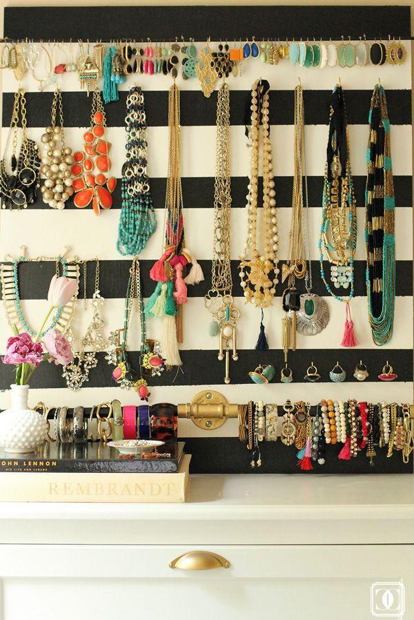 DIY Jewelry Organizer Diy jewelry organizer Earring storage and