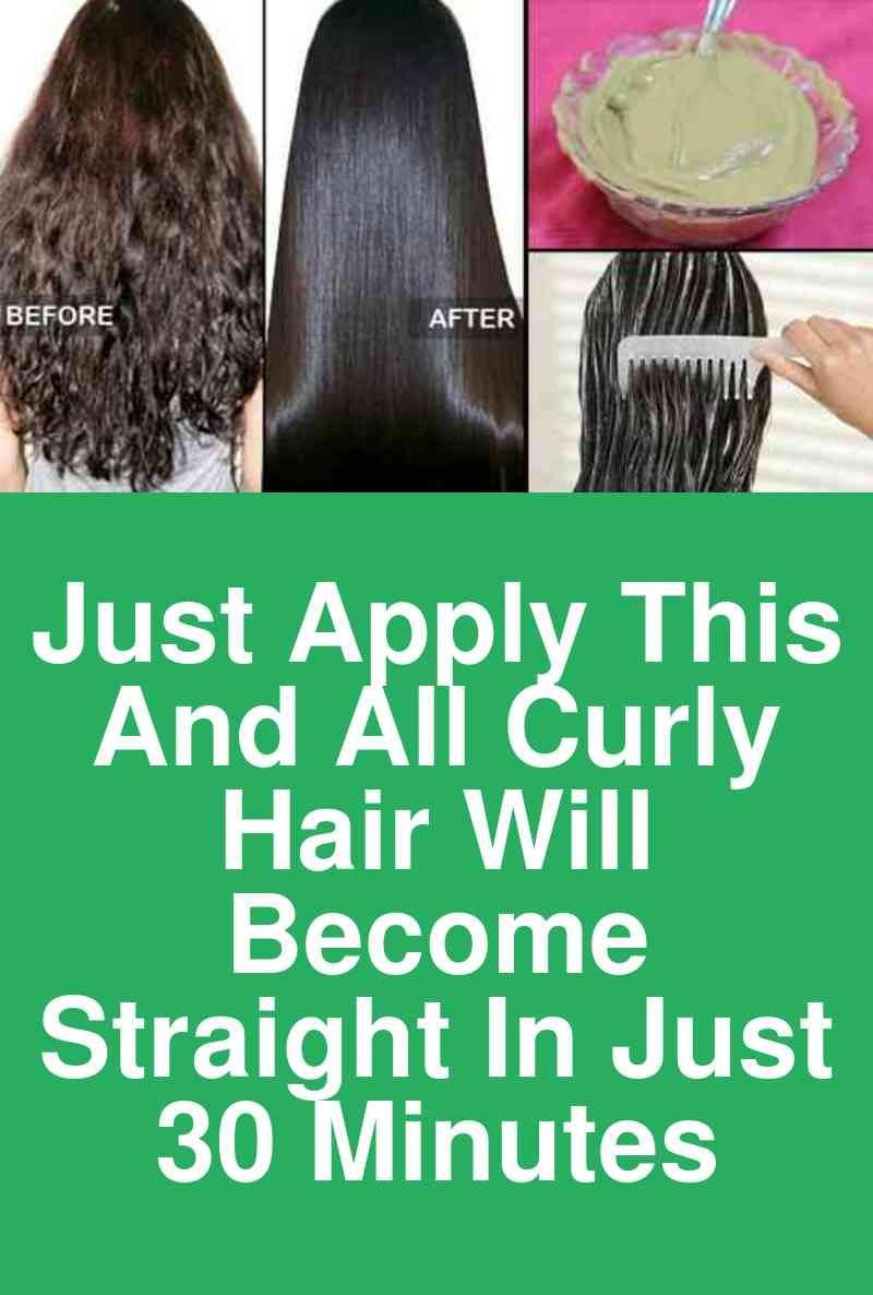 I used this homemade hair straightening cream, in just 30