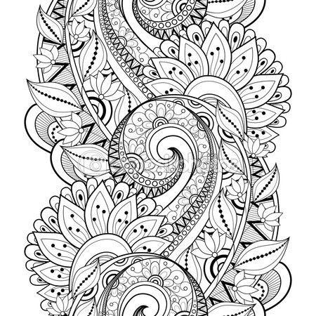 Patrones florales monocromo abstracto sin fisuras — Vector de stock ...