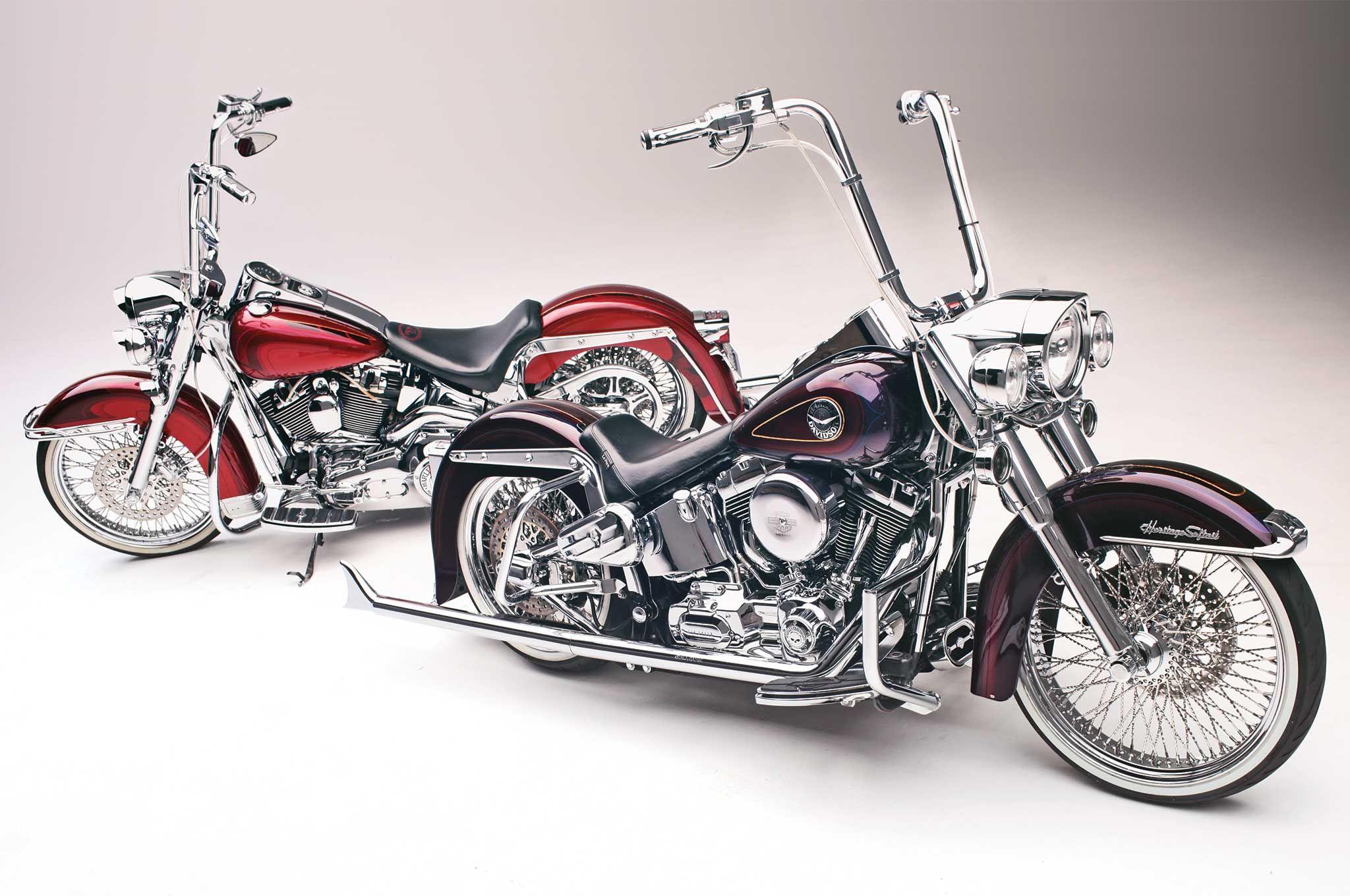 Heritage Softail Softail Deluxe Two Harleys One Painter Harley Davidson Bikes Softail Harley [ 1360 x 2048 Pixel ]